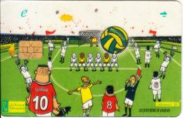 EGYPT - Football(e), Menatel Transparent Telecard, CN : 335, Used - Egypt