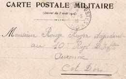 1916 - Cachet TRESOR ET POSTES  53 Sur CARTE POSTALE MILITAIRE - Marcophilie (Lettres)
