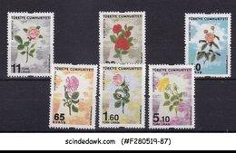 TURKEY - 2016 ROSES / FLOWERS - 6V - MINT NH - Végétaux