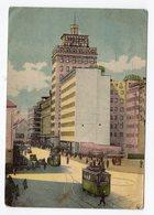 1954 YUGOSLAVIA, SLOVENIA, LJUBLJANA, CITY CENTER WITH TRAM, FLAM - Yugoslavia