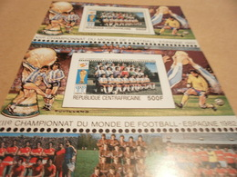 Perf And Imperf Miniature Sheets Spain 1982 Football World Cup - Central African Republic