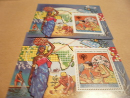 Perf And Imperf Miniature Sheets Jules Verne Year Of The Child 1979 - Guinea-Bissau