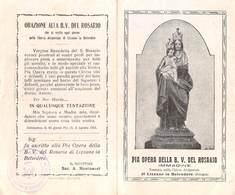 """08201 """"PIA OPERA DELLA B. V. DEL ROSARIO - IMM. VEN. NELLA CHIESA PARR. DI LIZZANO IN BELVEDERE (BO)"""" IMM. RELIG. ORIG. - Santini"""