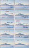 LOT De 10 Télécartes / 110-226 - Montagne Volcan - MONT FUJI - Mountain Japan Phonecards - BERG Telefonkarten -  MD 243 - Japan