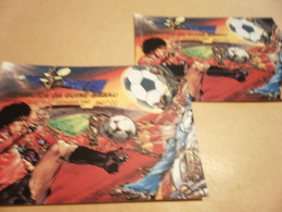 Perf And Imperf Miniature Sheets 1982 Football World Cup Spain - Guinea-Bissau