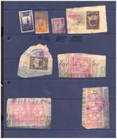 Marruecos. Protectorado Espagnol. 17 Sellos Fiscales. Impuestos Del Timbre... Mal Estado. - Revenue Stamps