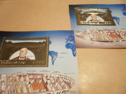 Perf And Imperf Miniature Sheets Central Africa Zeppelin 1983 - Central African Republic