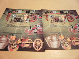 Perf And Imperf Miniature Sheets Central Africa Mercedes Benz - Central African Republic