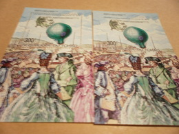Perf And Imperf Miniature Sheets 1983 200th Anniversary Of Balloon Flight - Chad (1960-...)
