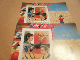 Perf And Imperf Miniature Sheets 1982 Spain Football World Cup - Central African Republic