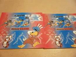 Perf And Imperf Miniature Sheets 1984 Los Angeles Olympics - Guinea (1958-...)
