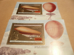 Perf And Imperf Miniature Sheets  - 1983 - Hot-air Balloons - Airships - Guinea (1958-...)
