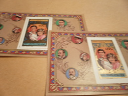Perf And Imperf Miniature Sheets  - 1982 Prince Charles Lady Diana Spencer And Prince William - Central African Republic
