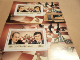 Perf And Imperf Miniature Sheets Chess 1983 - Central African Republic