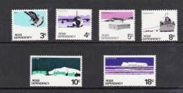 Ross Dependency NZ 1972 Scenic Definitives Set Of 6 MH - Ross Dependency (New Zealand)