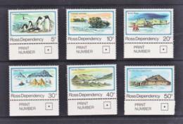 Ross Dependency NZ 1982 Scenic Definitives Set Of 6 MNH - Ross Dependency (New Zealand)
