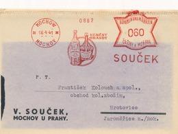 BuM (IMG2820) - Böhmen Und Mähren (1941) Mochow - Mochov: SOUCEK / KEMENY BRANDY (logo) (postcard) Tariff: 0,60 K - Storia Postale
