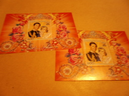 Perf And Imperf Miniature Sheets Lady Diana And Prince Charles - Central African Republic