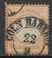 GERMANIA REICH IMPERO 1872 AQUILA  GRANDE SCUDO SULL'AQUILA UNIF. 15 ARANCIO USATO VF - Usati