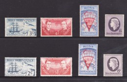 Ross Dependency NZ 1957, 1967 Predecimal & Decimal Sets Of 4 MH - Nuovi