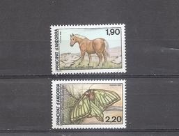 ANDORRA FRANCE Nature Set Of 2  1987  Scott 355-56 Yvert 361-62 MNH - French Andorra