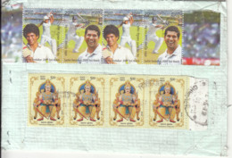 Regd. Post Cover, Used, Sport, Cricket, Archery, Royal, Gold Throne / Ornaments, Mineral, - Tiro Con L'Arco