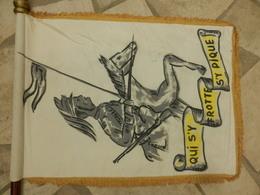 Drapeau Fanion 12° Régiment De Dragons Qui S'y Frotte S'y Pique - Militaria
