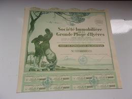 Immobilière De La Grande Plage D'hyères (1929) - Actions & Titres