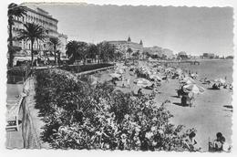 (RECTO / VERSO) CANNES EN 1954 - N° 7 - LA CROISETTE - BEAU TIMBRE - PLI ANGLE BAS A GAUCHE - FORMAT CPA VOYAGEE - Cannes