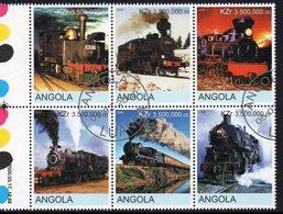 ANGOLA, 2000 TRAINS CTO BLOCK 4 - Angola