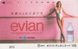 Télécarte Japon / 7-11 - 3515 - Jolie Femme & EAU EVIAN FRANCE - Sexy Bikini Girl & Water Adv. Japan Phonecard / 105 U - Advertising