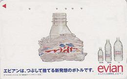 Télécarte Japon / 110-011 - Boisson - EAUMINERALE  EVIAN FRANCE - Water DRINK Adv. Japan Phonecard - WASSER - 32 - Advertising