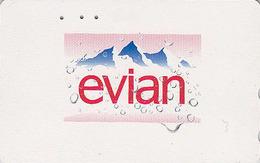 RARE Télécarte Japon / 110-202343 - Boisson - EAU MINERALE  EVIAN FRANCE - Water DRINK Adv. Japan Phonecard - 35 - Advertising