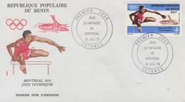 Enveloppe  FDC  1er  Jour   BENIN    Jeux  Olympiques   MONTREAL   1976 - Estate 1976: Montreal