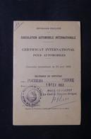 FRANCE - Certificat International Pour Automobiles De 1953 De Limoges , Fiscaux -  L 31602 - Old Paper
