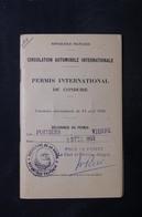 FRANCE - Permis International Pour Automobiles De 1953 De Limoges , Fiscaux -  L 31603 - Vieux Papiers