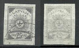 LETTLAND Latvia 1919 Michel 11 C Type X (porous Paper) O - Lettland