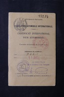 FRANCE - Certificat International Pour Automobiles De 1950 De Paris -  L 31604 - Vecchi Documenti