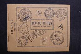 FRANCE - Jeux De Titres Ancien à Voir-  L 31605 - Altro Materiale