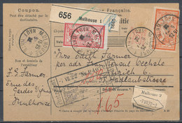 FRANCE - 1922 From Mulhouse To Zurich, Bulletin D'expédition,  Nice - Postal Stamped Stationery