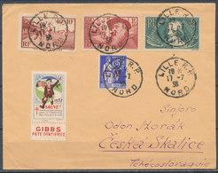 FRANCE - 1938, Cover LILLE To ČESKA SKALICE (Tchecoslovaqiue) + Cinderella - 1921-1960: Modern Period