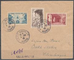 FRANCE - 1945, Cover LILLE- BOURSE To ČESKA SKALICE (Tchecoslovaquie) + Cinderella - Marcophilie (Lettres)