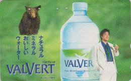 TC Japon / 110-011 - EAU MINERALE VALVERT NESTLE BELGIQUE & ANIMAL OURS - WATER & BEAR BELGIUM Rel Japan Phonecard - 52 - Télécartes