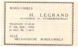 Pub Reclame Org. Knipsel Tijdschrift - Borduursels H. Legrand - Vilvoorde - 1946 - Advertising