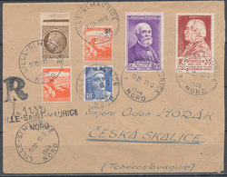 FRANCE - 1946, Reco Cover To ČESKA SKALICE  (Tchecoslovaquie) - Provisoire Reco Label - 1921-1960: Modern Period