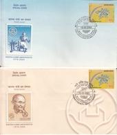 India  2004 Mahatma Gandhi Labour Institute 2 Special Covers # 19786   D  Inde Indien - Mahatma Gandhi