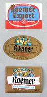 """3  Anciennes Étiquettes Bière Brasserie """"ROEMER"""" Pfaffenhoffen (Beer Label Bieretiketten) - Bière"""