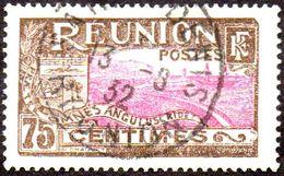 Réunion Obl. N° 113 - Vue -> Rade De Saint Denis - 75 C Brun Et Lilas-rose - Oblitérés