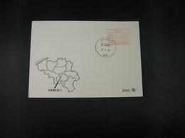 """BELG.1983 ATM49 FDC """"Vignette Affranchissement/Automaatzegels """" - Franking Machines"""