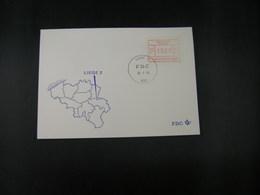 """BELG.1983 ATM45 FDC """"Vignette Affranchissement/Automaatzegels """" - Franking Machines"""